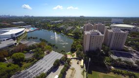 Aerial video University of Miami 4k clip 7. Drone aerial video of the University of Miami stock video footage