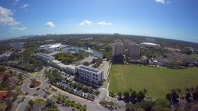 Aerial video University of Miami 4k clip 8 stock video footage