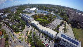 Aerial video University of Miami 4k clip 9. Drone aerial video of the University of Miami stock video footage