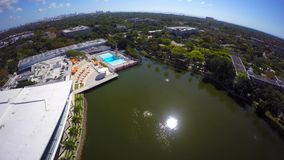 Aerial video University of Miami 4k. Drone aerial video of the University of Miami stock footage