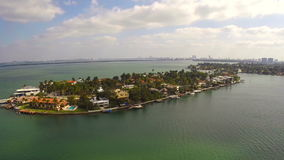 Aerial video Venetian Islands Miami Beach Stock Photos