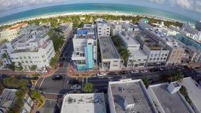 Aerial video Washington Avenue Miami Beach stock video