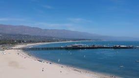 West Beach Santa Barbara Descent stock video