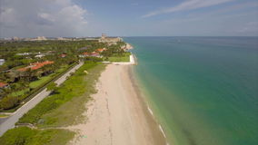 Aerial video West Palm Beach and The Breakers. Aerial drone video West Palm Beach FL stock video