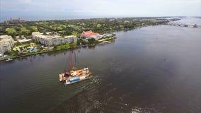 Aerial video West Palm Beach FL stock video