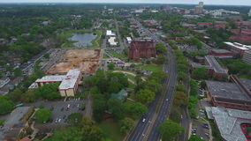 Aerial video West Tennessee Street drone stock video footage