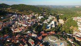 aerial Videodreh vom dron von Monchique-Dorf Algarve stock video