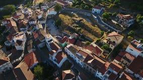 aerial Videodreh vom dron von Monchique-Dorf Algarve stock video footage