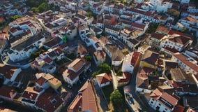 aerial Videodreh vom dron von Monchique-Dorf Algarve stock footage