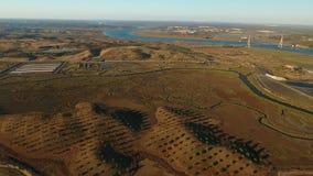 aerial Videography, der über Ria Formosa nahe Vila Real Sto Antonio schießt portugal stock video footage