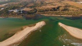 aerial Videography vom Brummen, Dörfer Cacela Velha Tavira stock video footage