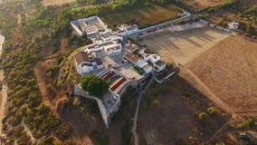aerial Videography von den Brummen, Dörfer Cacela Velha Tavira stock video