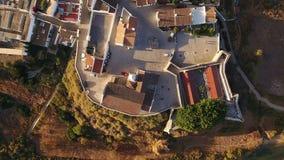 aerial Videography von den Brummendörfern Cacela Velha Tavira stock footage