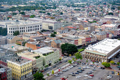 Aerial viel of colorful buildings in New Orleans. September 17, 2014 - New Orleans, LA, USA - aerial view of New Orleans Royalty Free Stock Photo