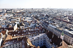 Aerial of Vienna in winter Royalty Free Stock Image