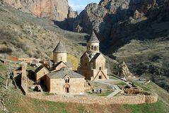 Aerial view. Of armenian old medieval monastery Royalty Free Stock Photos
