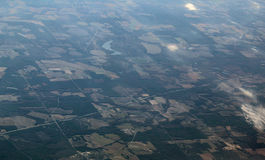 Aerial View. Of a rural area in Georgia, USA Stock Images