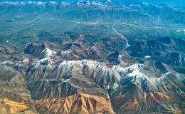 Aerial View. Of mountain and snow Royalty Free Stock Image