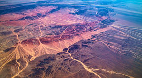 Blood vessels of earth. Overlooking the river from the air, it like blood vessels Stock Photography