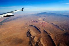 Aerial view. From plane on canyon Stock Photos