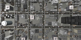 Aerial view of 3D city Stock Image