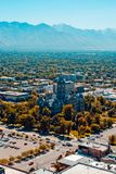 Aerial View. Aerial photo of Salt Lake City, Utah. Featuring the downtown area Stock Image