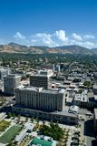 Aerial View. Aerial photo of Salt Lake City, Utah. Featuring the downtown area Royalty Free Stock Photography
