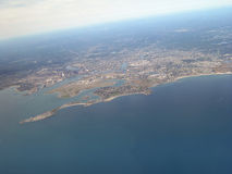 Aerial view. Of east coast city Stock Image