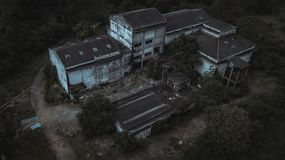 Aerial view of Abandoned house Royalty Free Stock Photo