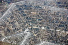 Aerial view of Abestos mine Royalty Free Stock Images