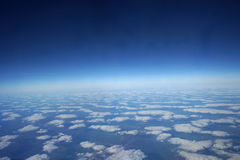 Aerial view above the clouds Royalty Free Stock Image