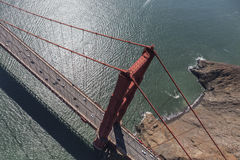Aerial View Above the Golden Gate Bridge Royalty Free Stock Photo