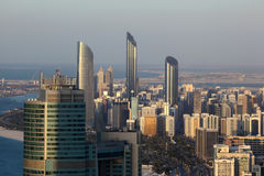 Aerial view of Abu Dhabi downtown Royalty Free Stock Photo