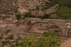 Aerial View of Achaturaya temple from the top of Matanga Hill, Hampi. Aerial View of Achaturaya temple from the top of Matanga Hill,Hampi royalty free stock photos