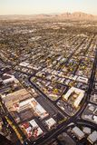 Aerial view across urban suburban community Royalty Free Stock Photo