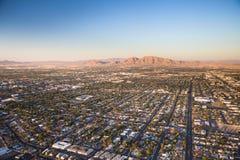 Aerial View Across Urban Suburban Community Royalty Free Stock Image
