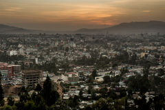 Aerial view of Addis Ababa Royalty Free Stock Photography
