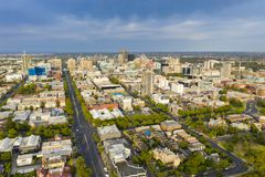 Aerial view of Adelaide in Australia stock image