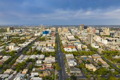 Aerial view of Adelaide in Australia stock photography