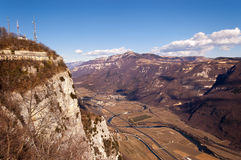 Aerial View of Adige Valley - Italy Stock Images