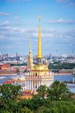Aerial view of Admiralty tower, St Petersburg, Russia Stock Photos