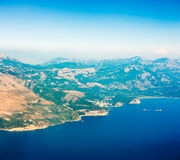 Aerial View of Adriatic Coastline in Montenegro. Stock Images