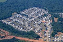 Tract housing in Georgia near Atlanta. Royalty Free Stock Photography