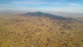 African landscapes from above. stock image