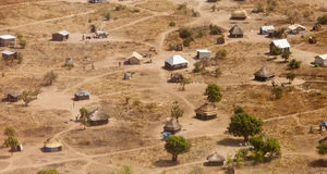 Aerial view of African village Royalty Free Stock Images