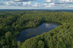 Aerial view of Agersoe in Denmark Stock Photography