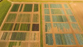 Aerial view of farmland. Royalty Free Stock Photography