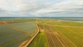Aerial view of farmland. Royalty Free Stock Photo