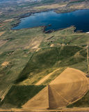 Aerial view of agricultural fields Royalty Free Stock Photography