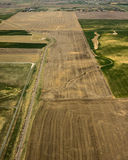 Aerial view of agricultural fields Stock Image
